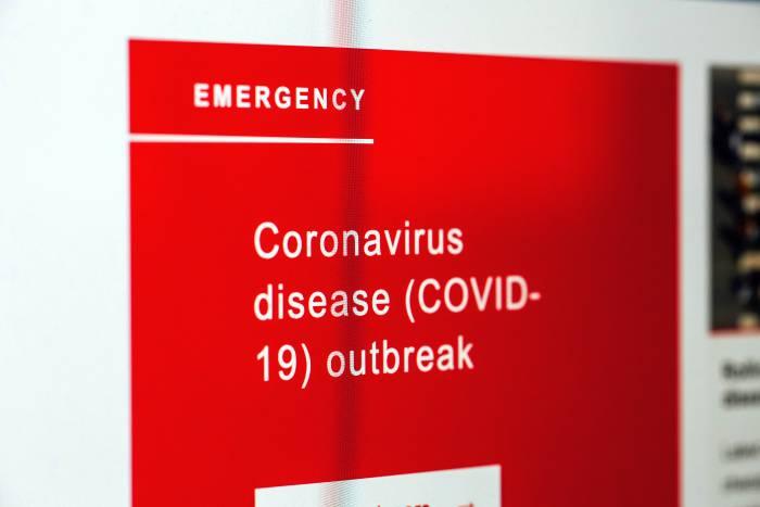 Coronaausbruch Warnhinweis